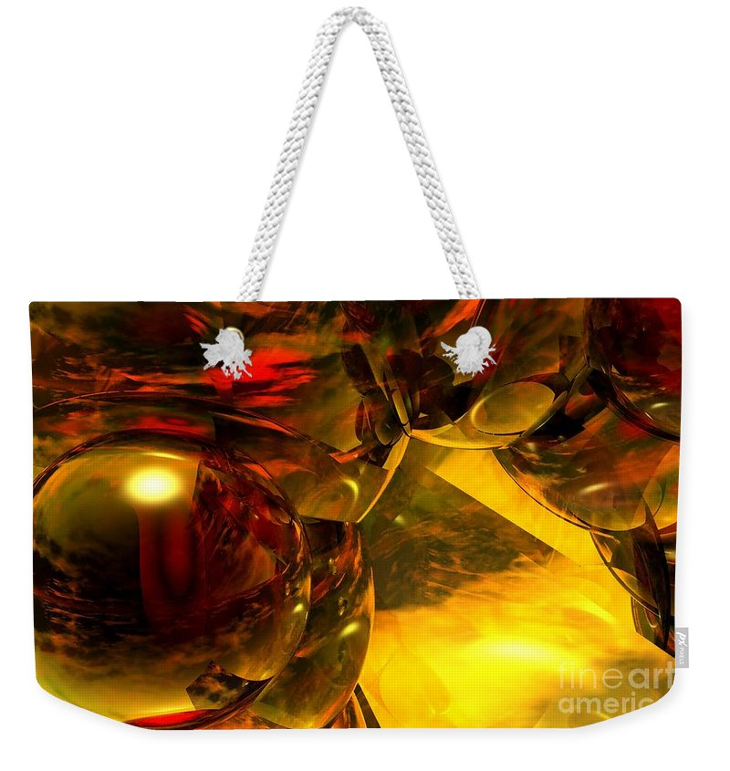 Abstract Weekender Tote Bag featuring the digital art Abstract 5-21-09 by David Lane