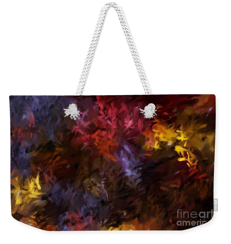 Abstract Weekender Tote Bag featuring the digital art Abstract 5-23-09 by David Lane