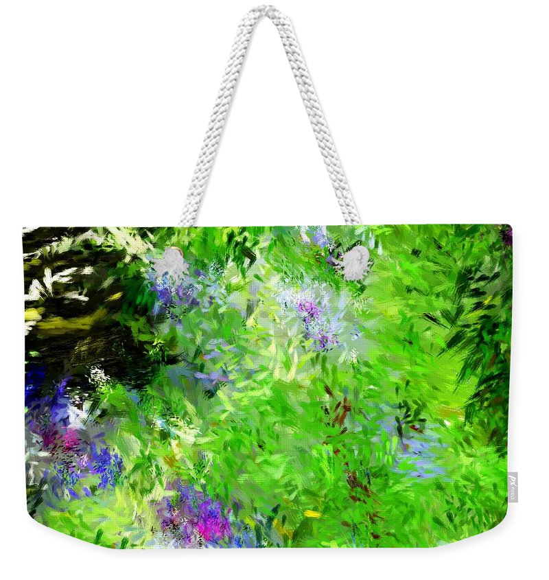 Abstract Weekender Tote Bag featuring the digital art Abstract 5-26-09 by David Lane