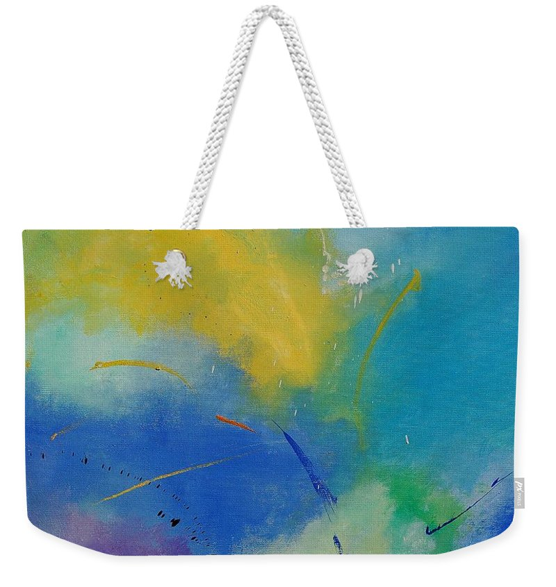 Abstract Weekender Tote Bag featuring the painting Abstract 564897 by Pol Ledent