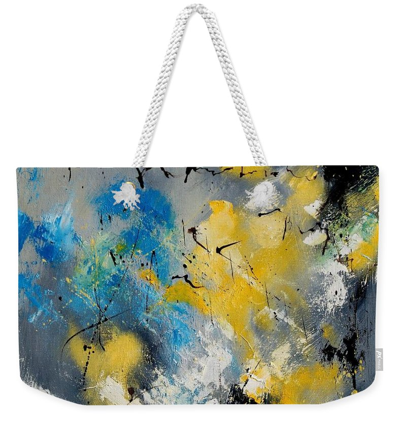 Abstract Weekender Tote Bag featuring the painting Abstract 569070 by Pol Ledent