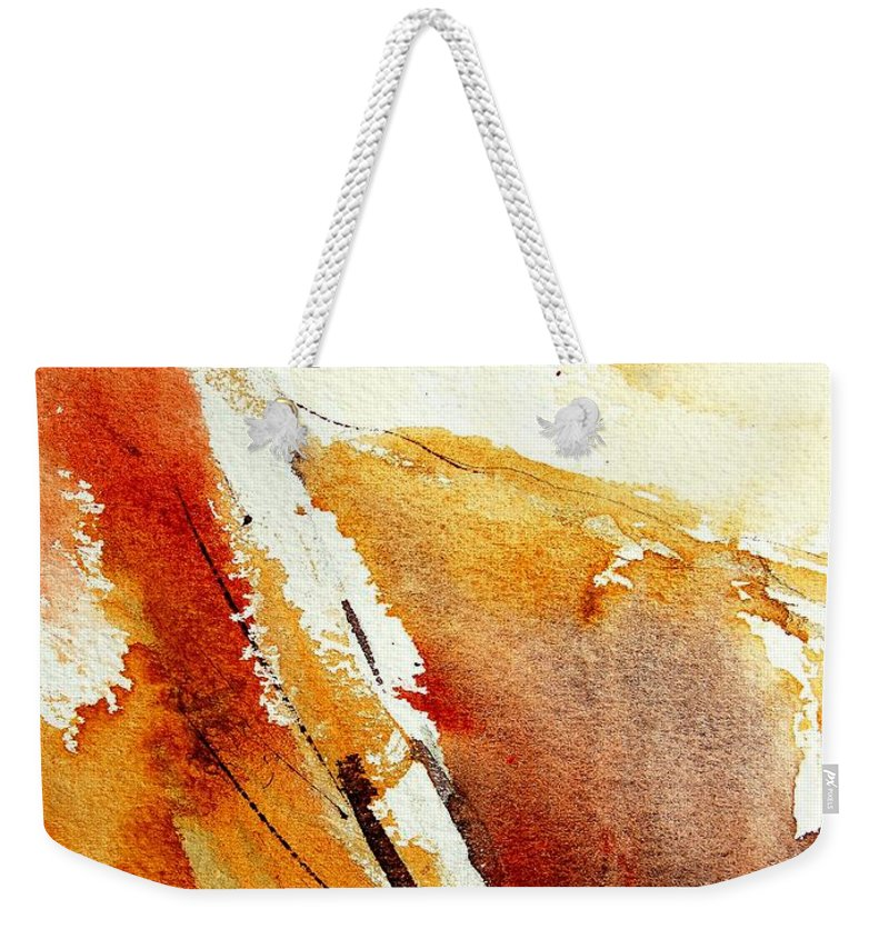Abstract Weekender Tote Bag featuring the painting Abstract 5869 by Pol Ledent