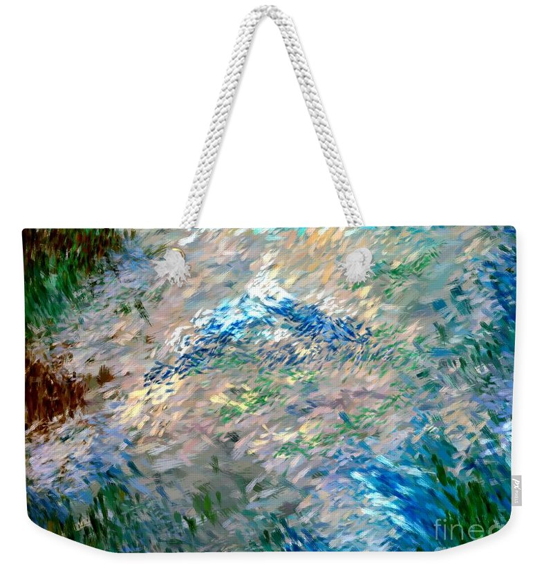 Abstract Weekender Tote Bag featuring the digital art Abstract 6-03-09 A by David Lane
