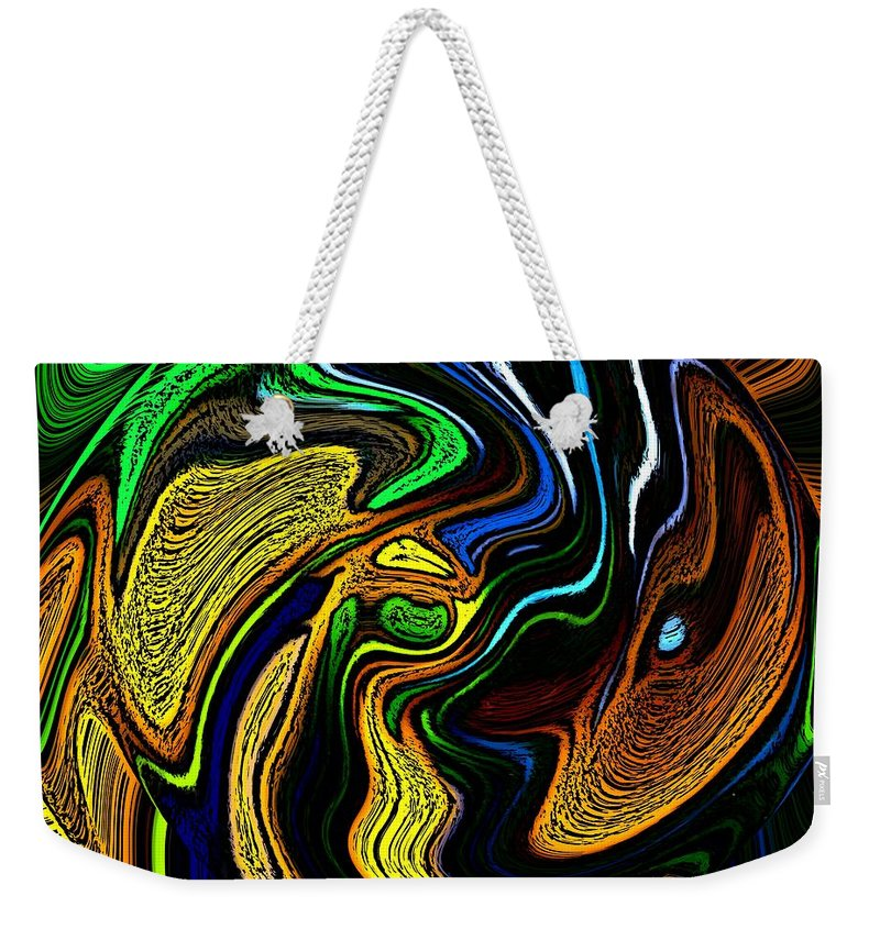 Abstract Weekender Tote Bag featuring the digital art Abstract 6-10-09-a by David Lane