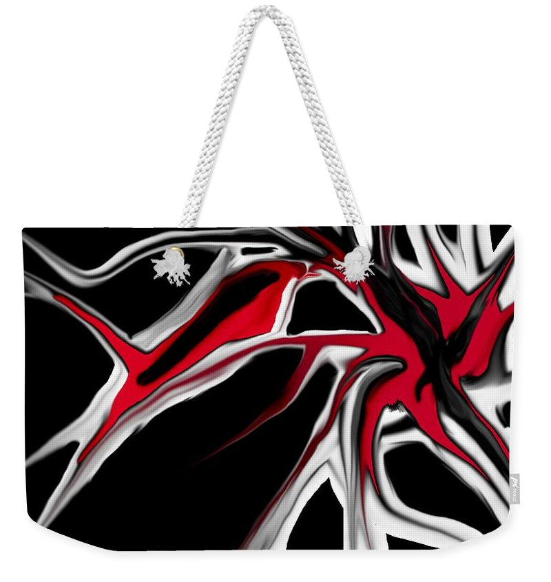 Abstract Weekender Tote Bag featuring the digital art Abstract 6-14-09 by David Lane