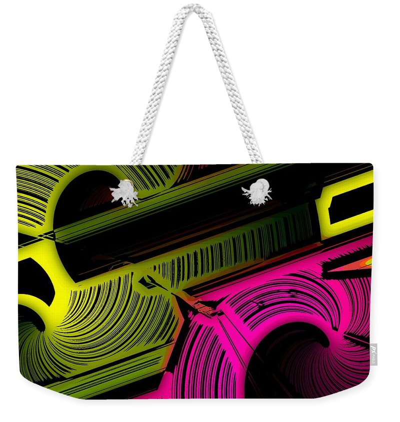 Abstract Weekender Tote Bag featuring the digital art Abstract 6-21-09 by David Lane