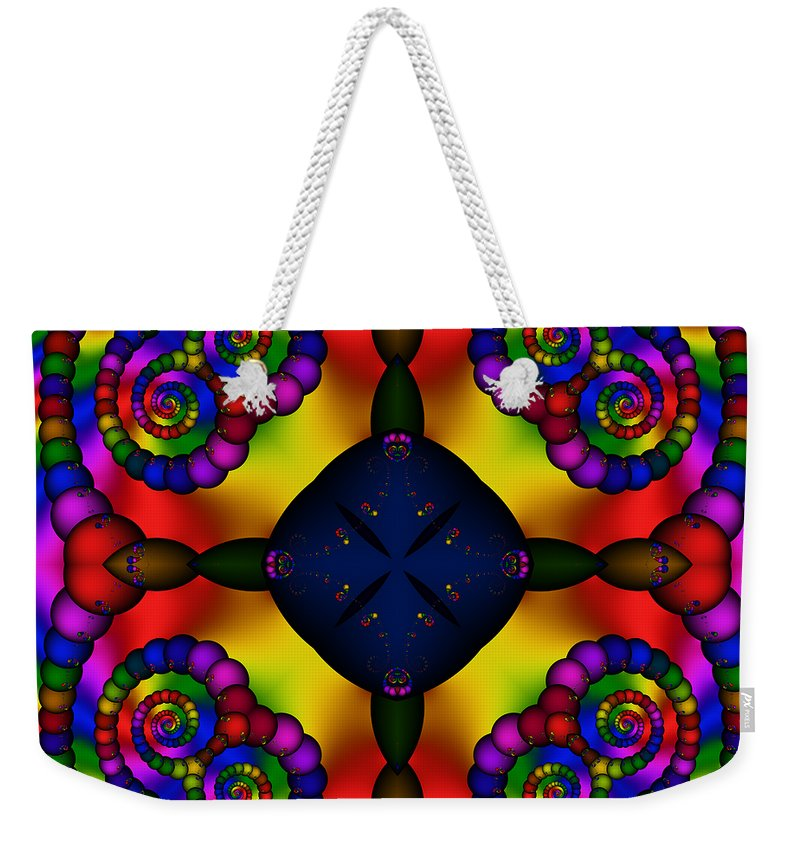 Abstract Weekender Tote Bag featuring the digital art Abstract 650 by Rolf Bertram