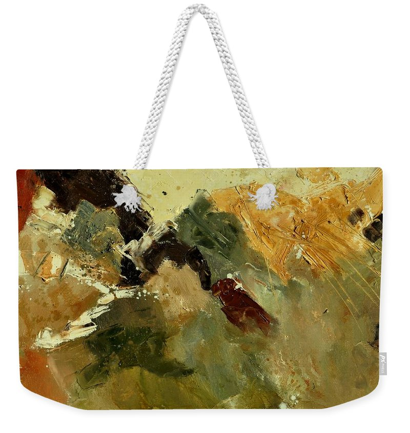 Abstract Weekender Tote Bag featuring the painting Abstract 6601901 by Pol Ledent