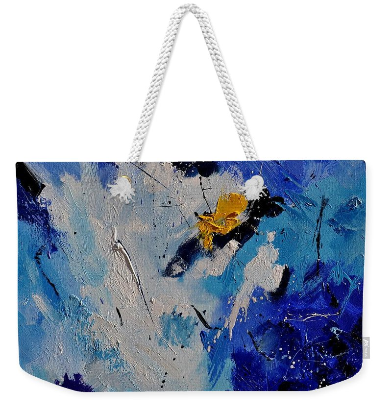Abstract Weekender Tote Bag featuring the painting Abstract 6601902 by Pol Ledent