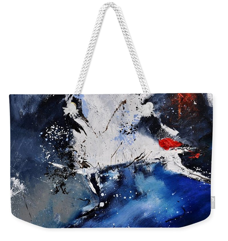 Abstract Weekender Tote Bag featuring the painting Abstract 6611401 by Pol Ledent