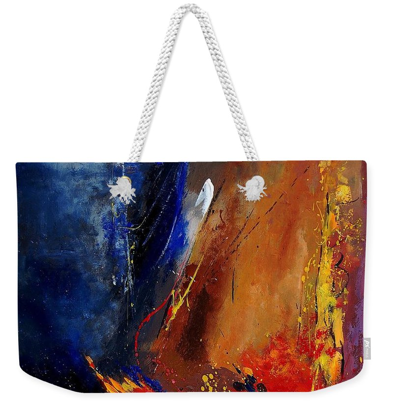 Abstract Weekender Tote Bag featuring the painting Abstract 67900142 by Pol Ledent