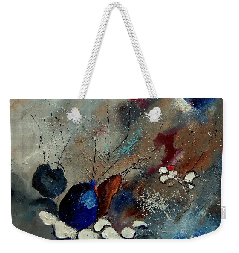 Abstract Weekender Tote Bag featuring the painting Abstract 67909010 by Pol Ledent