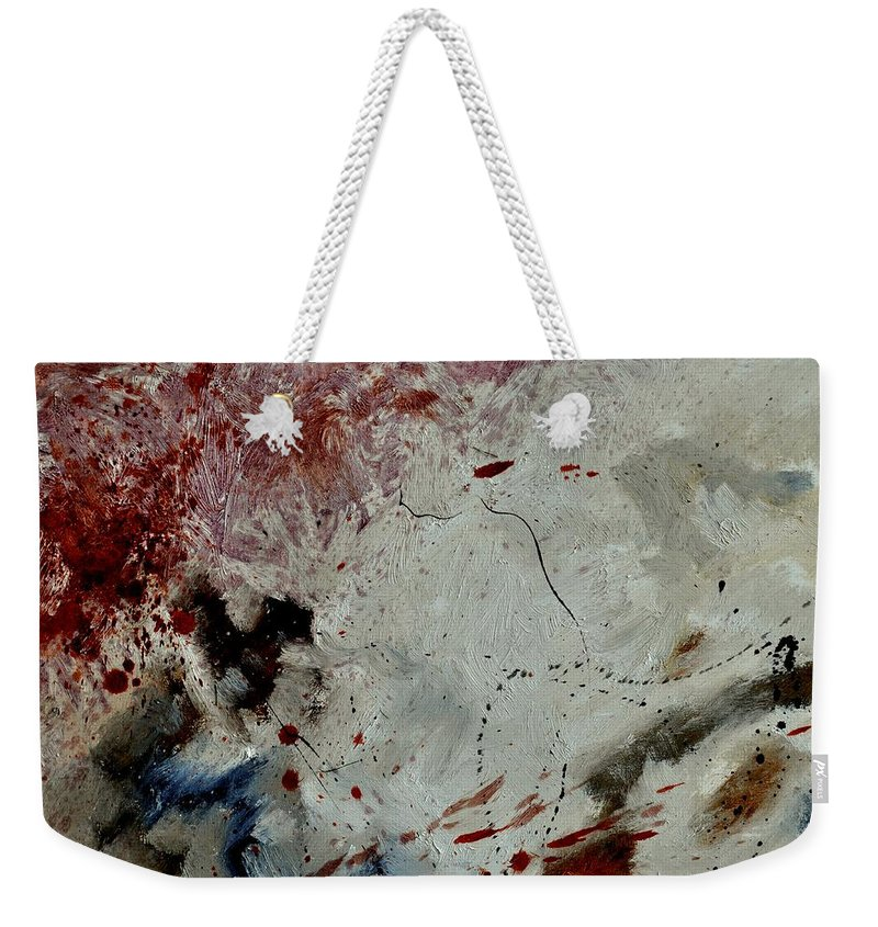 Abstract Weekender Tote Bag featuring the painting Abstract 690140032 by Pol Ledent