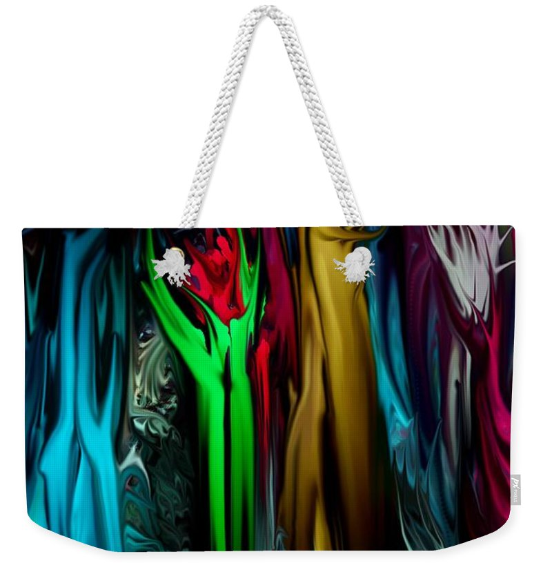 Abstract Weekender Tote Bag featuring the digital art Abstract 7-09-09 by David Lane
