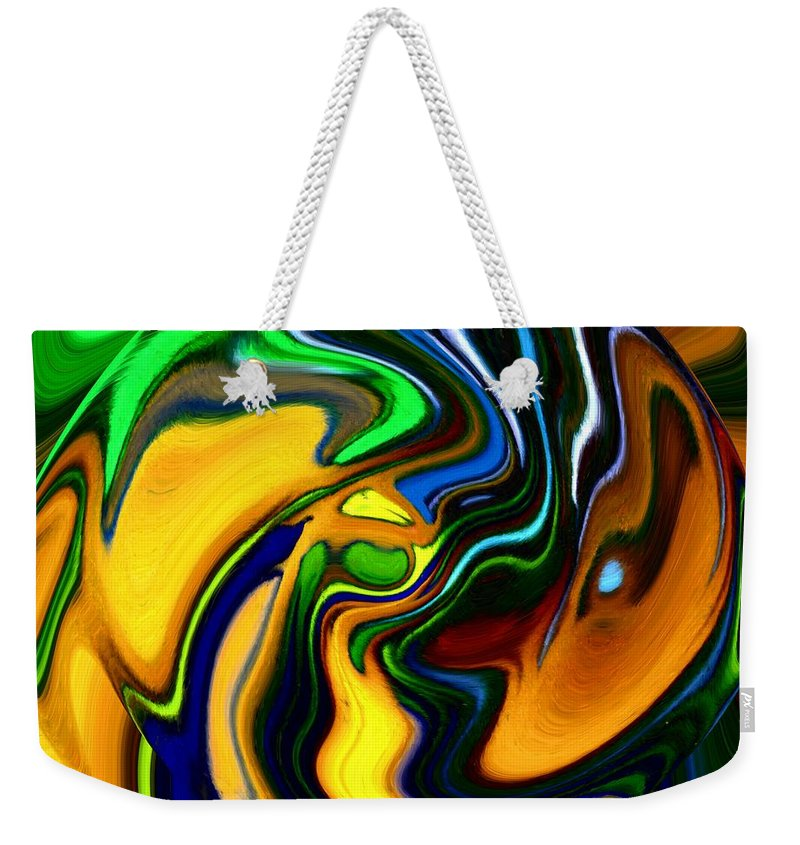 Abstract Weekender Tote Bag featuring the digital art Abstract 7-10-09 by David Lane