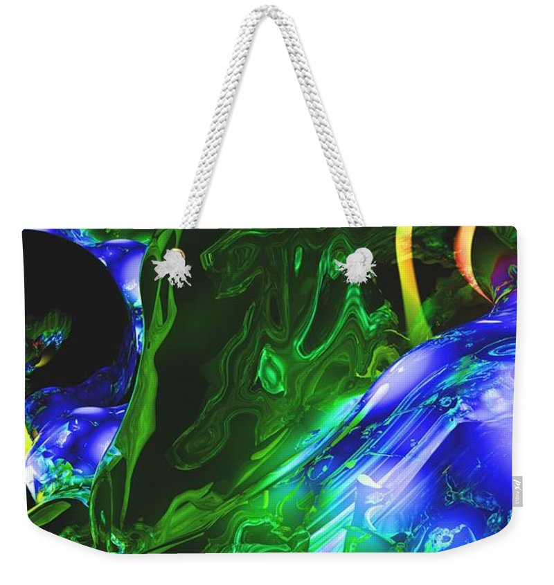 Abstract Weekender Tote Bag featuring the digital art Abstract 7-25-09-1 by David Lane