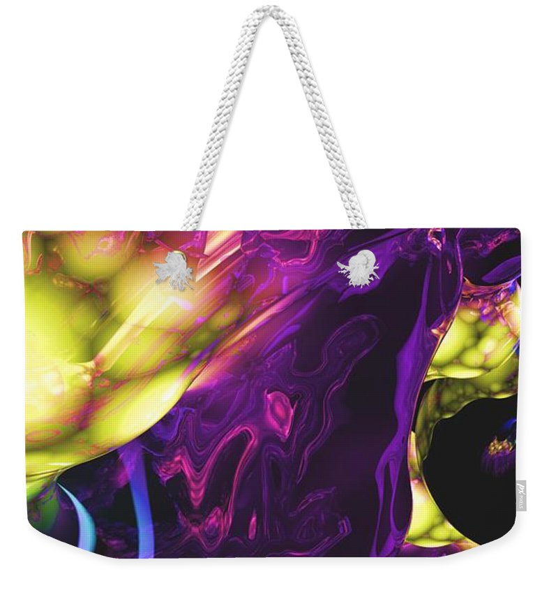 Abstract Weekender Tote Bag featuring the digital art Abstract 7-25-09 by David Lane