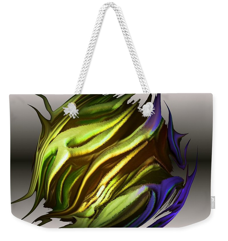 Abstract Weekender Tote Bag featuring the digital art Abstract 7-26-09-a by David Lane