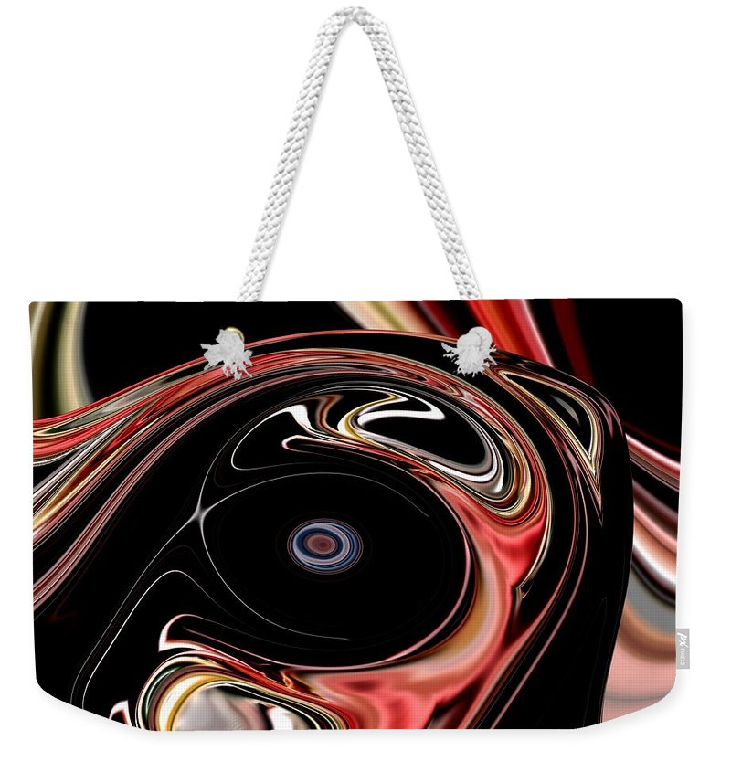 Abstract Weekender Tote Bag featuring the digital art Abstract 7-26-09-b by David Lane