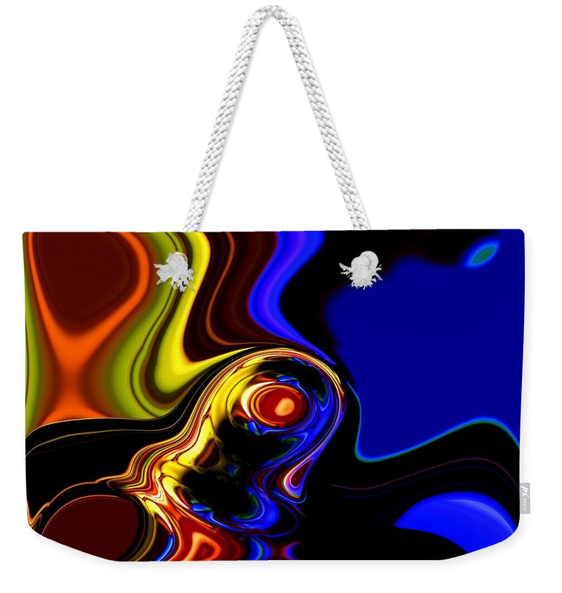 Abstract Weekender Tote Bag featuring the digital art Abstract 7-26-09 by David Lane