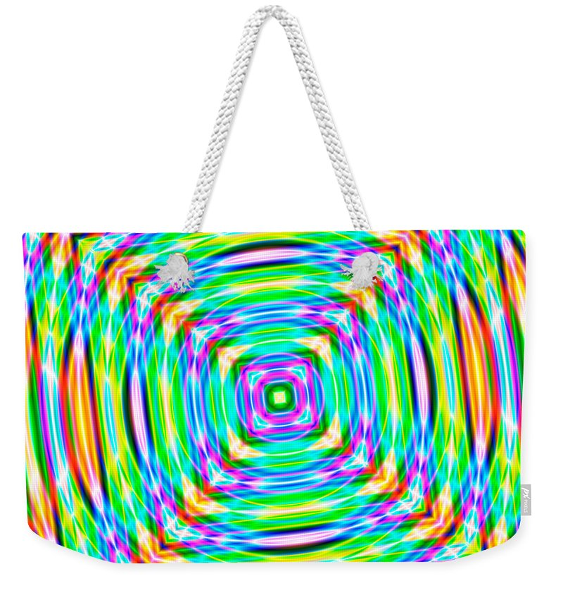 Abstract Weekender Tote Bag featuring the digital art Abstract 709 by Rolf Bertram