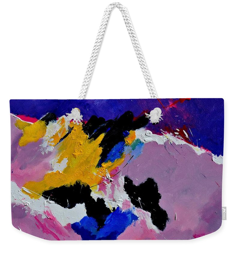 Abstract Weekender Tote Bag featuring the painting Abstract 760170 by Pol Ledent