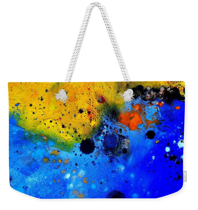 Abstract Weekender Tote Bag featuring the painting Abstract 767b by Pol Ledent