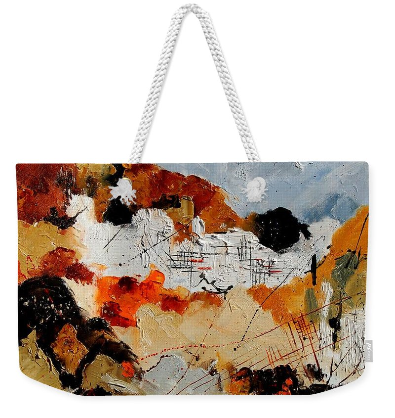 Abstract Weekender Tote Bag featuring the painting Abstract 780708 by Pol Ledent