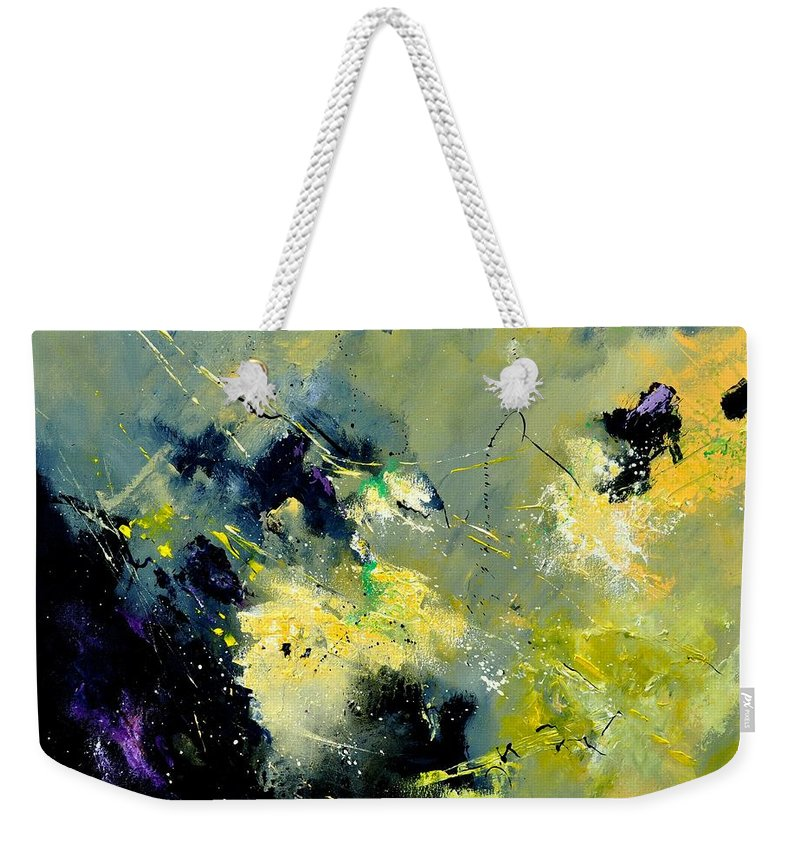 Abstract Weekender Tote Bag featuring the painting Abstract 8821603 by Pol Ledent