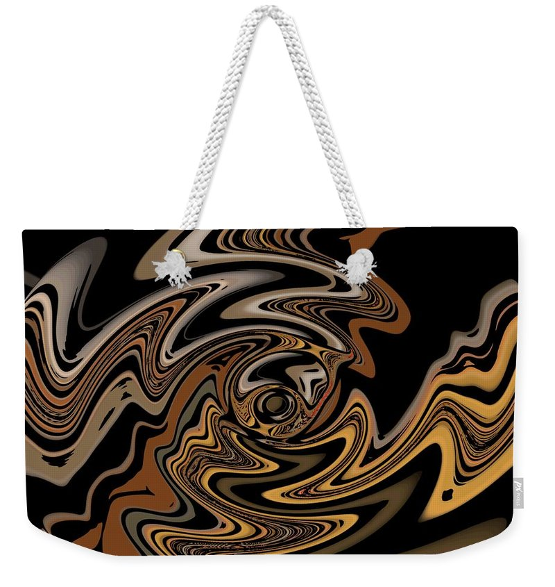 Abstract Digital Painting Weekender Tote Bag featuring the digital art Abstract 9-11-09 by David Lane