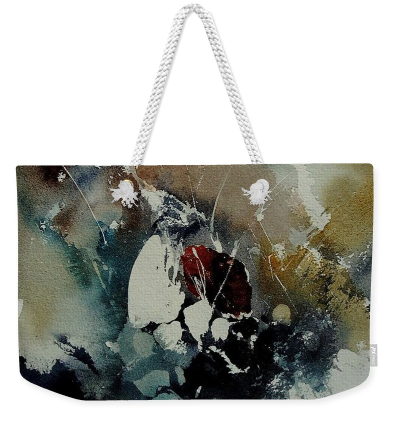 Abstract Weekender Tote Bag featuring the painting Abstract 900121 by Pol Ledent