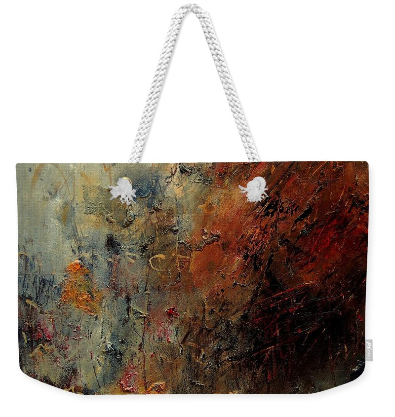 Abstract Weekender Tote Bag featuring the painting Abstract 900192 by Pol Ledent
