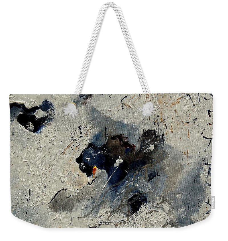 Abstract Weekender Tote Bag featuring the painting Abstract 901141 by Pol Ledent