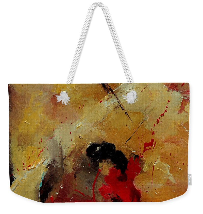 Abstract Weekender Tote Bag featuring the painting Abstract 901156 by Pol Ledent