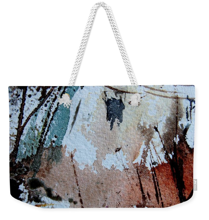 Abstract Weekender Tote Bag featuring the painting Abstract 9036 by Pol Ledent