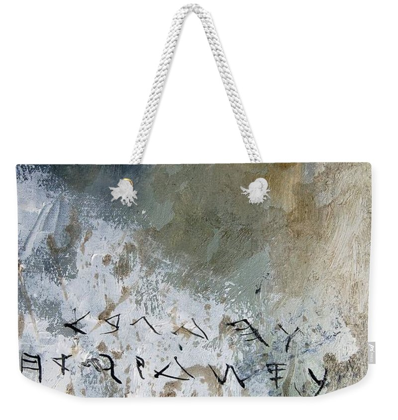 Abstract Weekender Tote Bag featuring the painting Abstract 904023 by Pol Ledent