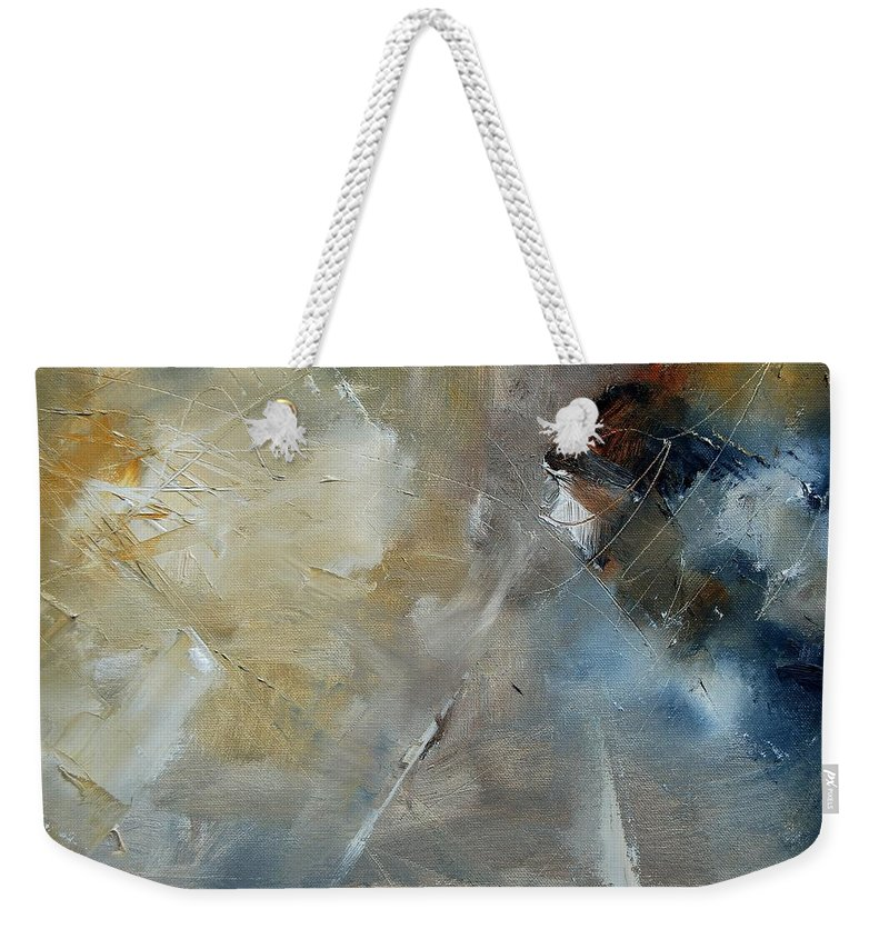 Abstract Weekender Tote Bag featuring the painting Abstract 904060 by Pol Ledent