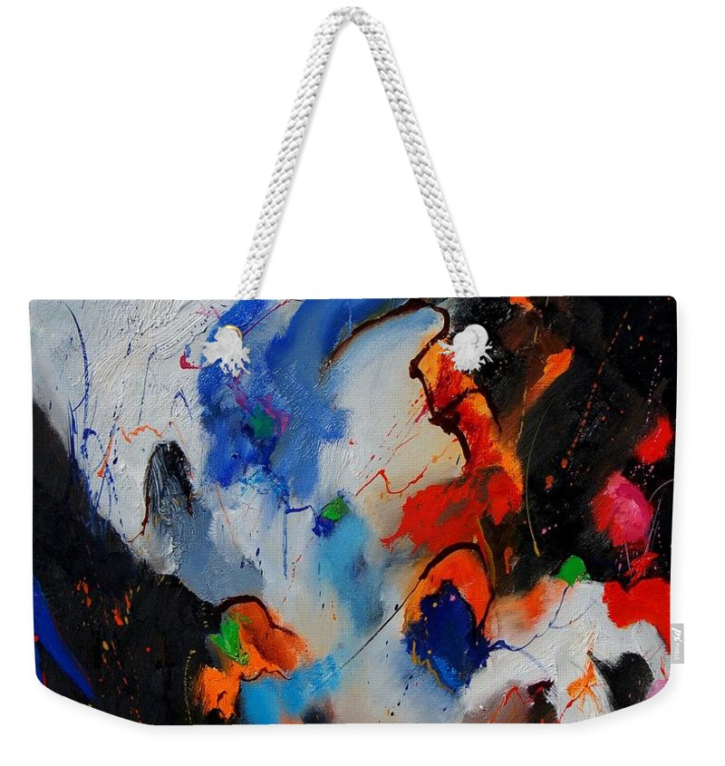 Abstract Weekender Tote Bag featuring the painting Abstract 905060 by Pol Ledent