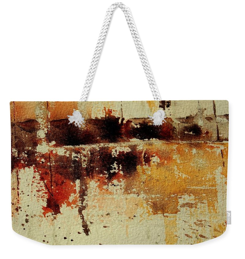 Abstract Weekender Tote Bag featuring the painting Abstract 90801245 by Pol Ledent
