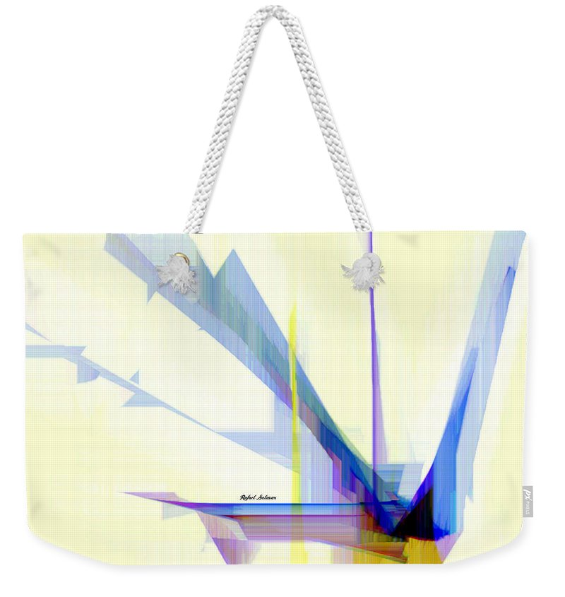 Art Weekender Tote Bag featuring the digital art Abstract 9503-001 by Rafael Salazar
