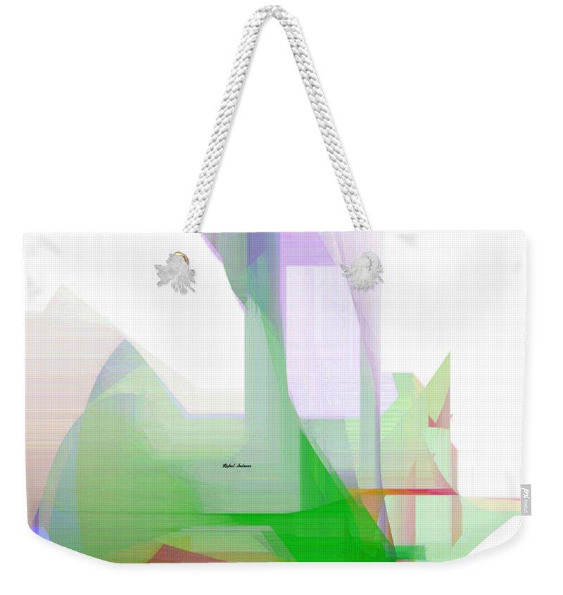 Art Weekender Tote Bag featuring the digital art Abstract 9506-001 by Rafael Salazar