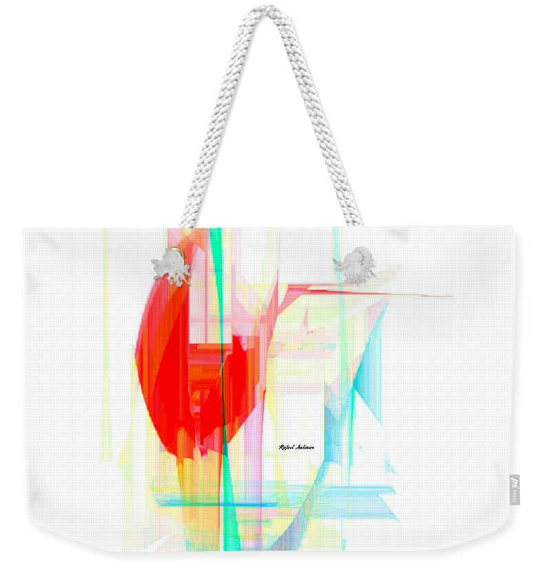 Art Weekender Tote Bag featuring the digital art Abstract 9507 by Rafael Salazar