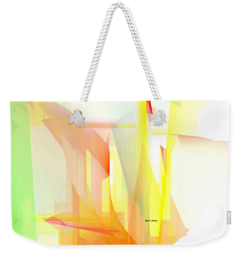 Art Weekender Tote Bag featuring the digital art Abstract 9508 by Rafael Salazar