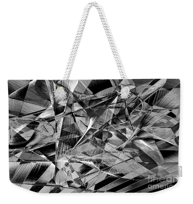 Art Weekender Tote Bag featuring the digital art Abstract 9637 by Rafael Salazar