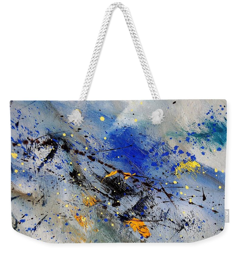 Abstract Weekender Tote Bag featuring the painting Abstract 969090 by Pol Ledent