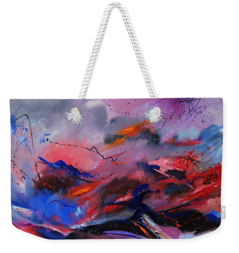 Abstract Weekender Tote Bag featuring the painting Abstract 971260 by Pol Ledent