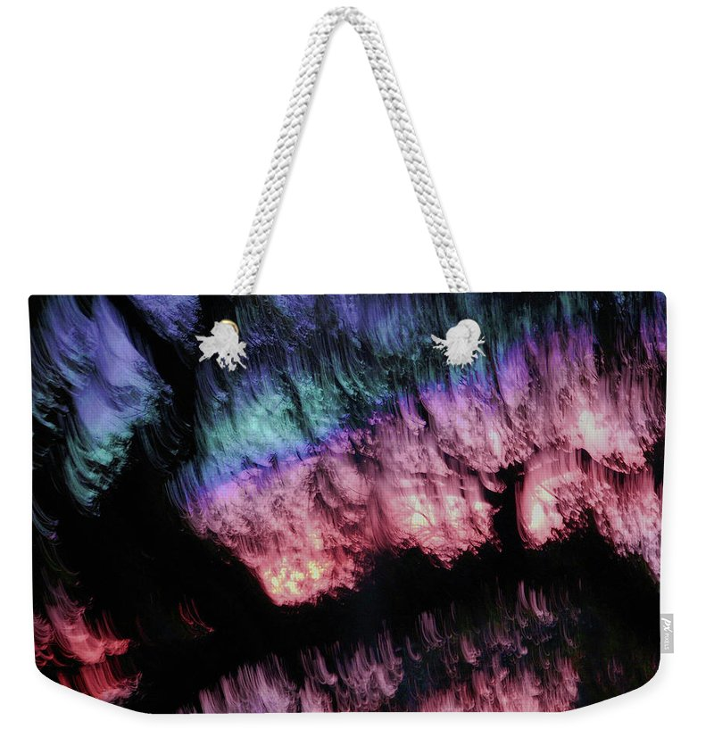 Abstract Weekender Tote Bag featuring the digital art Abstract Accident by DigiArt Diaries by Vicky B Fuller