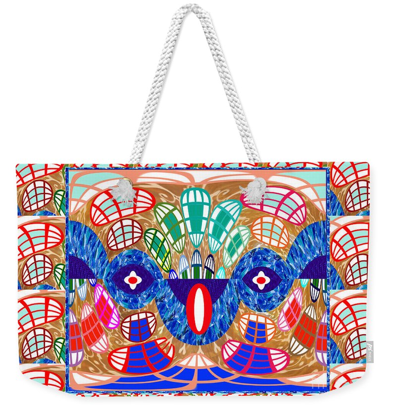 Graphic Weekender Tote Bag featuring the digital art Abstract Art Snake Hidden In Graphics Art By Navinjoshi At Fineartamerica.com Elegant Interior Decor by Navin Joshi