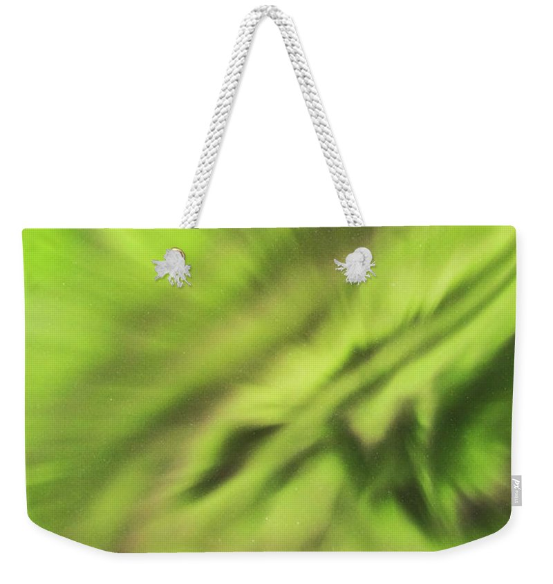 Iceland Weekender Tote Bag featuring the photograph Abstract Aurora by Gunnar Orn Arnason