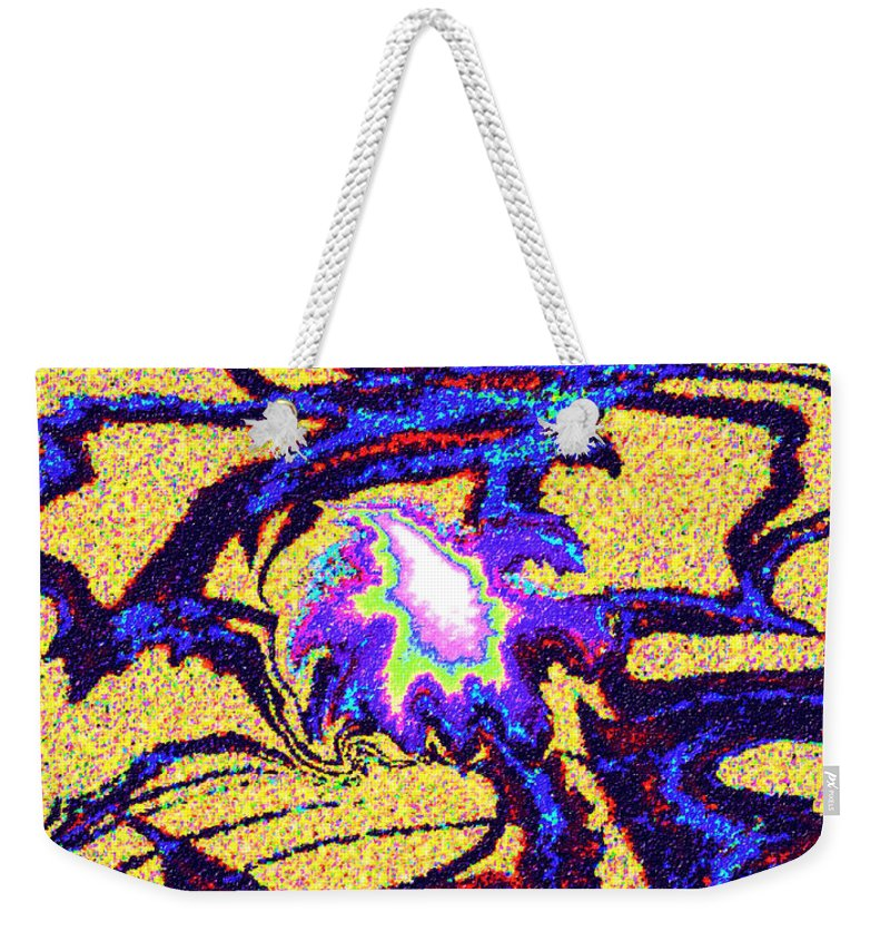 Abstract Design Weekender Tote Bag featuring the digital art Digital Picture Abstract Bq152 by Oleg Trifonov
